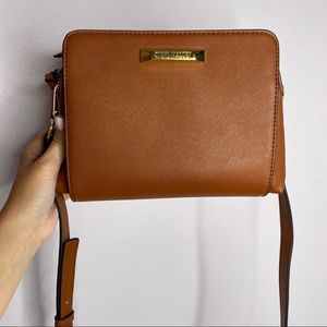 STEVE MADDEN Leather Crossbody Purse Chestnut